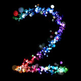 Lights in the shape of numbers Royalty Free Stock Photography