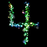 Lights in the shape of numbers Stock Photography
