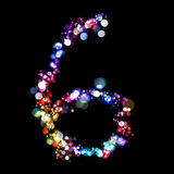 Lights in the shape of numbers Royalty Free Stock Photo