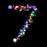 Lights in the shape of numbers Stock Photo