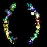 Lights in the shape of parentheses Royalty Free Stock Image