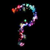 Lights in the shape of question mark Royalty Free Stock Images