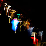 Lights in the shape of sevens Royalty Free Stock Photo
