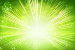 Lights and shining stars green abstract background Royalty Free Stock Image