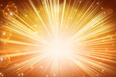 lights and shining stars orange background Royalty Free Stock Images