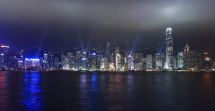 Lights show in Hong Kong Royalty Free Stock Images