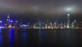 Lights show in Hong Kong Stock Images