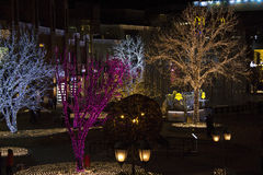 Lights show at shopping mall during new year period in Beijing, China Royalty Free Stock Photography
