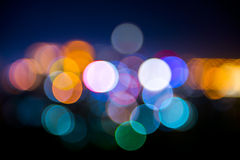 Lights in soft focus. Stock Photos