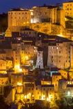 Lights of Sorano - Tuscany Royalty Free Stock Photography