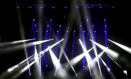 Lights and SpotLights on the stage. During live concert stock image