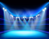 Lights of stadium. Vector illustration. Royalty Free Stock Photo