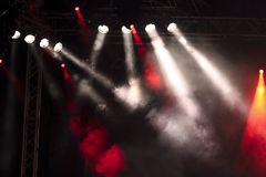 Lights on a stage Royalty Free Stock Images