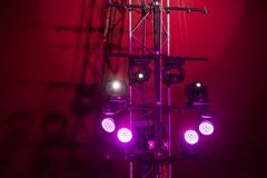 Lights on the stage. In circus royalty free stock image