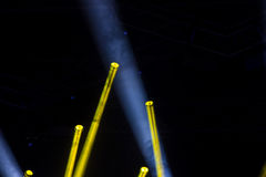 Lights on a stage. Colorful lights and smoke on a stage royalty free stock photo