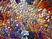 Lights of Stained Glass Royalty Free Stock Image