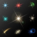 Lights, stars and sparkles Stock Photo
