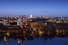 Lights of Stockholm Stock Photography