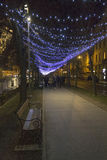 Lights on a street at Advent Royalty Free Stock Photography