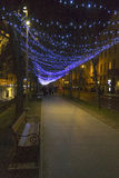 Lights on a street at Advent Royalty Free Stock Images