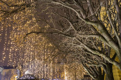 Lights on a street at Advent Stock Image