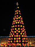 Lights and street decorations at Christmas time in Bogota, Colombia. Bolivar Square at Christmas time, Bogota, Colombia Stock Photography