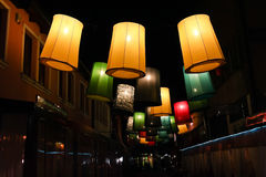 Lights in the street, Sarajevo Royalty Free Stock Photos