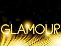 Lights Stripes Wave Glamour Golden Stock Images