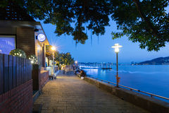 Lights on Tamsui River Edge Stock Photography