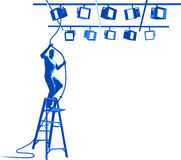 Lights Technician. Vector illustration of Lights Technician Royalty Free Stock Photos