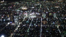 The lights of Tokyo. The view from the observation deck of the TV tower sky tree at the lights of Tokyo at night royalty free stock photography