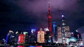 Night of Shanghai royalty free stock photography