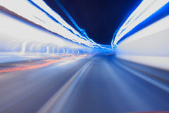 lights trails in a tunnel Stock Image
