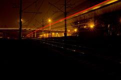 Lights of the train. Royalty Free Stock Photography