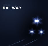 Lights of train, vector abstract background stock illustration