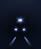 Lights of train, vector abstract background royalty free illustration