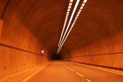 Lights in tunnel. Lights in Cyprus road tunnel Royalty Free Stock Photo