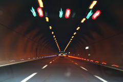 Lights in tunnel Stock Photos