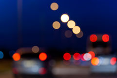 Lights of vehicles in traffic Stock Photos