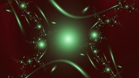 Lights, widescreen. Widescreen fractal image of spheres and lines in some kind of order on dark background vector illustration