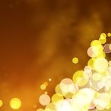 Lights on yellow background bokeh effect. Royalty Free Stock Photography