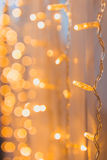 Lights yellow garland Royalty Free Stock Image