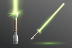 Lightsaber vector illustration Royalty Free Stock Images