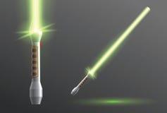 Lightsaber-Vektorillustration lizenzfreie abbildung