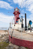 Lightship cliff Oregrund Royalty Free Stock Photo
