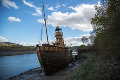 Lightship No 72. Lying on the River Neath, South Wales. She was built at John Crown's shipyard, Sunderland in 1903. She took part in the D day landings in June Royalty Free Stock Photography