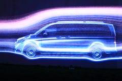 Lightshow в Праге Стоковое Изображение RF