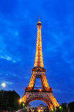 Lightshow at the Eiffel Tower royalty free stock photo