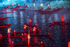 Lightshow Lui Sanjie, Yangshuo, China Imagens de Stock
