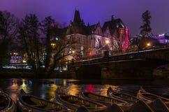 Lightshow Marburg. Philipps-University Marburg during lightshow Marburg b(u)y Night Royalty Free Stock Photography